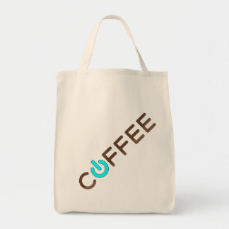Coffee Power (Blue) Tote Bag