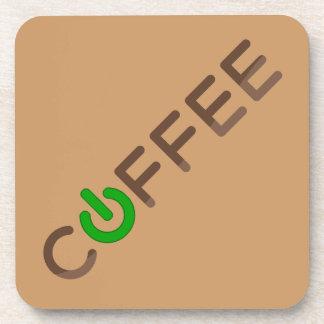 Coffee Power (Green) Beverage Coaster