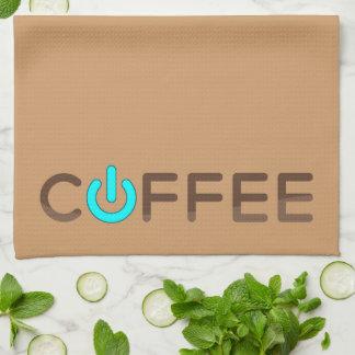 Coffee Power (Green) Hand Towel