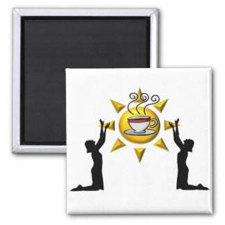 Coffee Praise 2 Inch Square Magnet