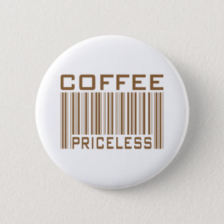 Coffee Priceless Bar Code Tees Gifts Button