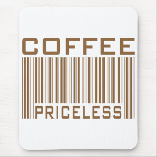 Coffee Priceless Bar Code Tees Gifts Mouse Pad