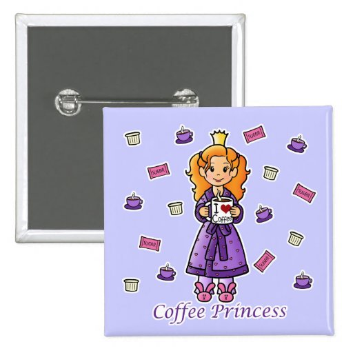 Coffee Princess Buttons