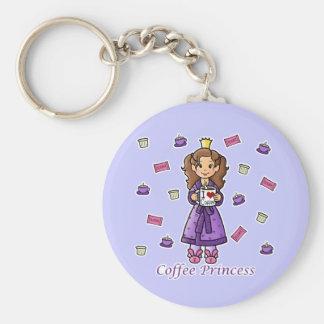 Coffee Princess Keychain