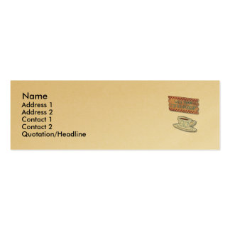 Coffee Profile Card (Gold) Business Card Template