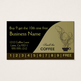 Coffee Punch Cards Both Sides