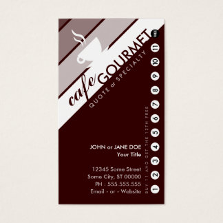 COFFEE punchcard : (buy 11 get 1 free) Business Card