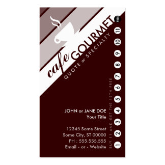 COFFEE punchcard : (buy 11 get 1 free) Double-Sided Standard Business Cards (Pack Of 100)