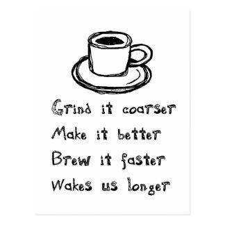 Coffee Punk Postcard