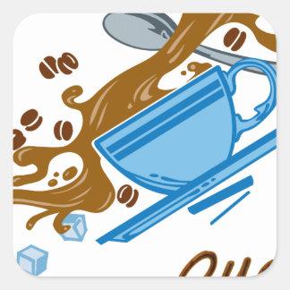 Coffee Quake Square Sticker