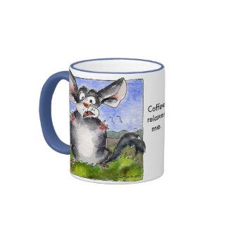 Coffee Relaxes Me!  Funny Cartoon Mug