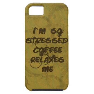 Coffee Relaxes Me iPhone 5 Tough Case