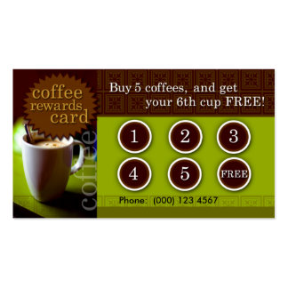 Coffee Rewards Card Double-Sided Standard Business Cards (Pack Of 100)
