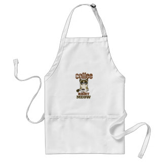Coffee Right Meow Adult Apron