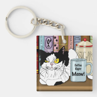 Coffee Right Meow!! Keychain