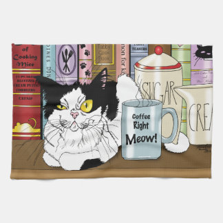 Coffee Right Meow!! Kitchen Towel