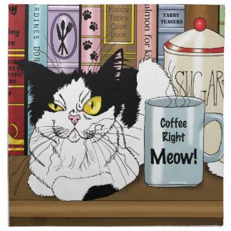 Coffee Right Meow!! Napkin