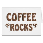 COFFEE ROCKS GREETING CARD