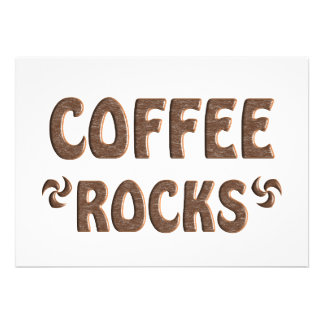 COFFEE ROCKS CUSTOM INVITATIONS