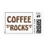 COFFEE ROCKS POSTAGE STAMPS