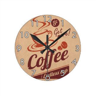 Coffee Round Clock