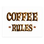COFFEE RULES POSTCARD