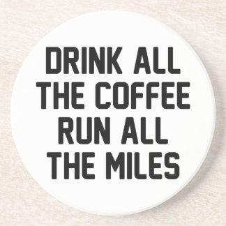 Coffee & Run Drink Coaster