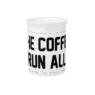 Coffee & Run Drink Pitcher
