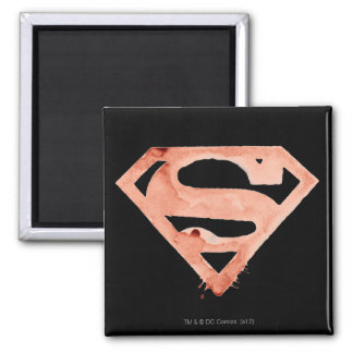 Coffee S Symbol - Red 2 Inch Square Magnet