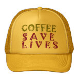 Coffee Saves Lives Trucker Hat