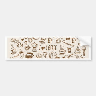 Coffee Scribble Bumper Sticker