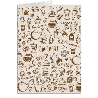 Coffee Scribble Card
