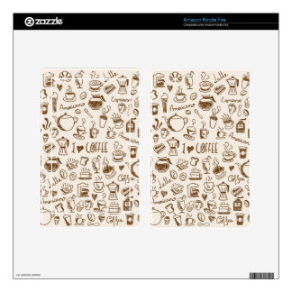 Coffee Scribble Decal For Kindle Fire