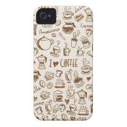 Coffee Scribble iPhone 4 Case-Mate Case