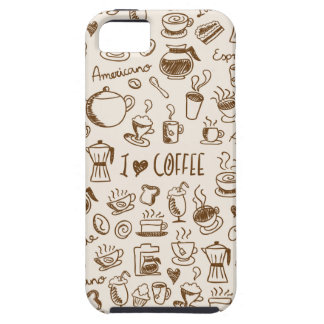 Coffee Scribble iPhone 5 Case
