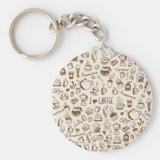 Coffee Scribble Keychain
