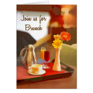 Coffee service on a Tray Join for Brunch Card