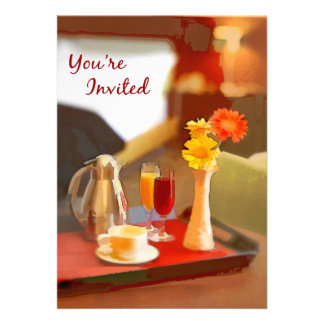 Coffee Service on a Tray You re Invited Personalized Invitation