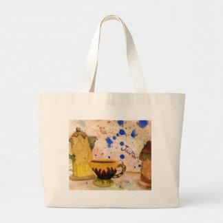 Coffee Set - CricketDiane Coffee Folk Art Jumbo Tote Bag