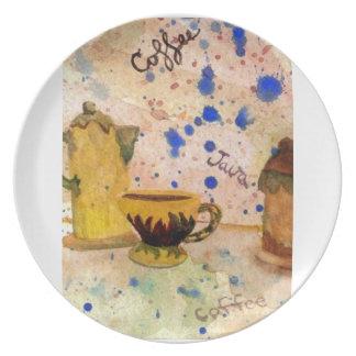 Coffee Set - CricketDiane Coffee Folk Art Plate