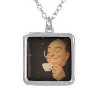 Coffee Sets You Right Silver Plated Necklace
