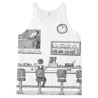 Coffee Shop All-Over Print Tank Top