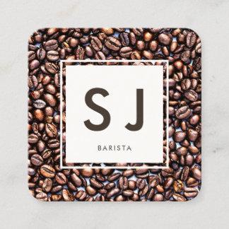 Coffee Shop Barista Square Business Card