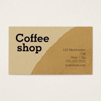 Coffee shop bistro bar roasting buisnness business card