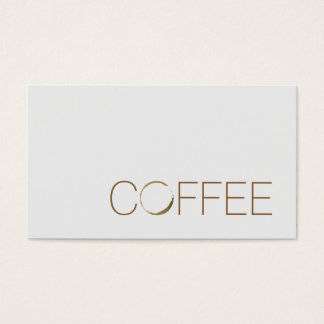 Coffee Shop Business Card