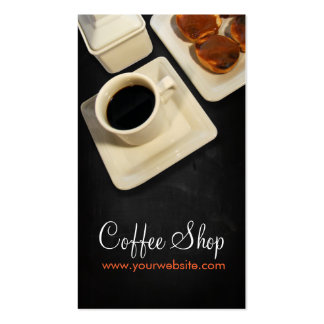 Coffee Shop Double-Sided Standard Business Cards (Pack Of 100)