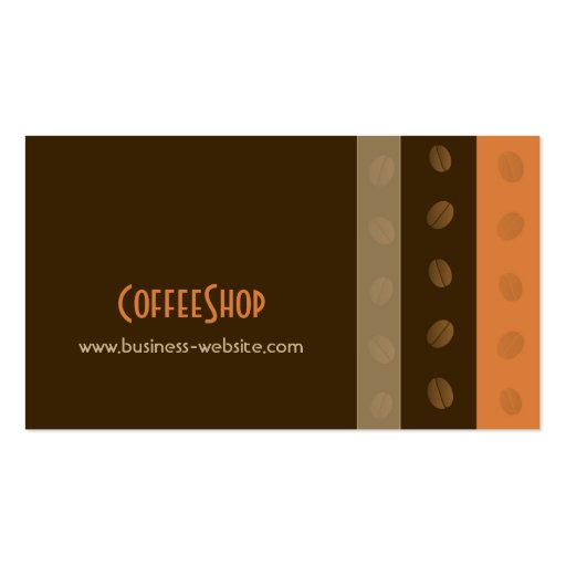 Coffee shop business card zazzle for Business card shop
