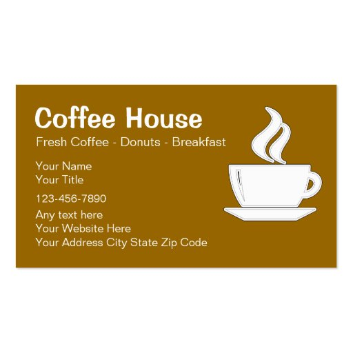 Coffee shop business cards zazzle for Business card shop