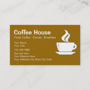 Coffee business cards zazzle coffee shop business cards colourmoves