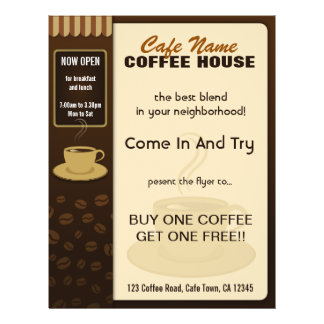 Coffee Shop Cafe Coffee Cup Flyers and Coffee Menu